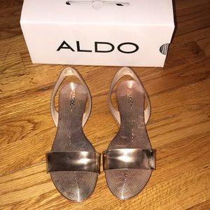 Aldo rose gold sandals